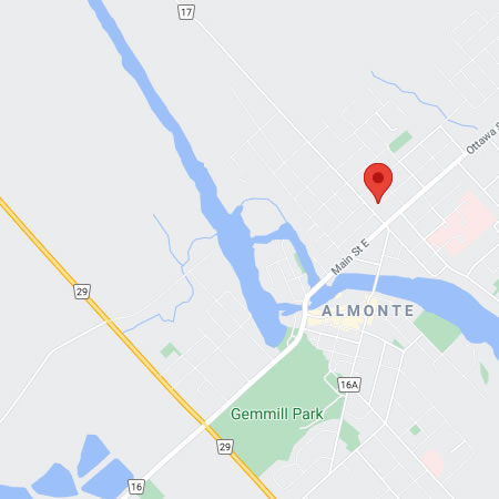 Map of Almonte, Ontario - click for location